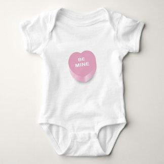 Pink Conversation Hearts Baby Bodysuit