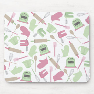 Pink Cooking Themed Mousepad