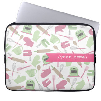 Pink Cooking Themed Personalized  Electronics Bag