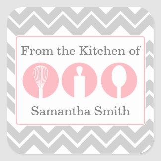 Pink Cooking Utensils Trio Kitchen Labels