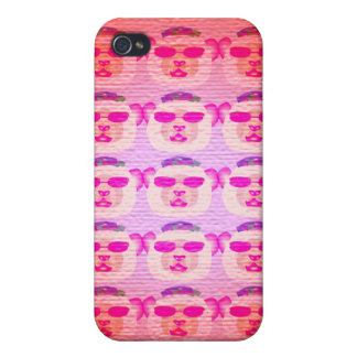 Pink Cool Teddy Bear iPhone Case iPhone 4 Covers