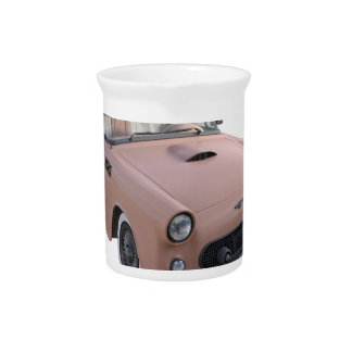 Pink Coral 50's Sport Car Beverage Pitcher