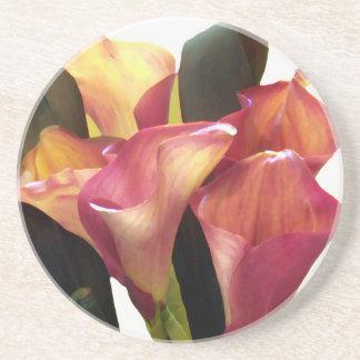 Pink Coral Callas Drink Coaster