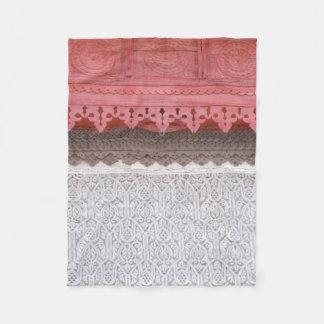 Pink Coral House Fleece Blanket