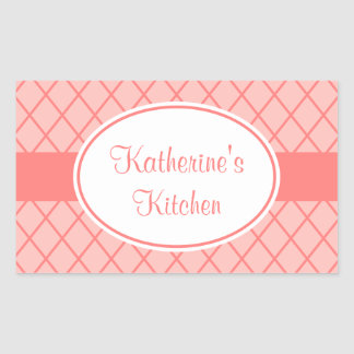 Pink Coral Kitchen Stickers