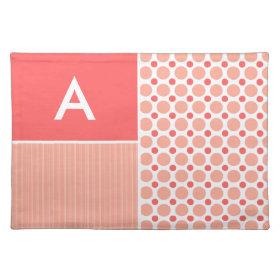 Pink & Coral Polka Dots, Dots Placemats