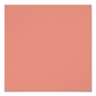 Pink Coral Solid Color Poster