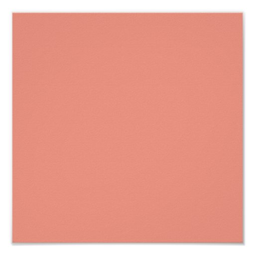 Pink Coral Solid Color Print
