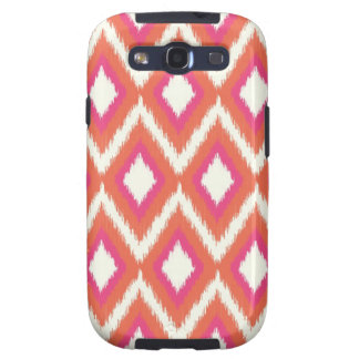 Pink & Coral Tribal Ikat Chevron Galaxy SIII Case