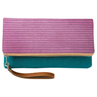 Pink Corduroy Texture For Background Clutch