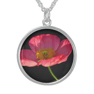 Pink Corn Poppy Flower Jewelry
