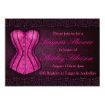 Pink Corset Lingerie Bridal Shower Invitation