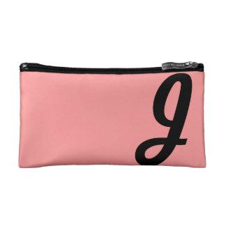 Pink Cosmetic Bag, Monogram Makeup Case