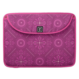 Pink Cosmic Damask Sleeve For MacBook Pro