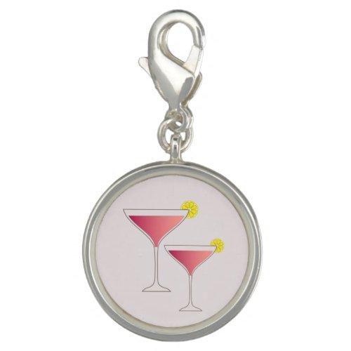 Pink cosmopolitan cocktail lemon girly sweet blush charm