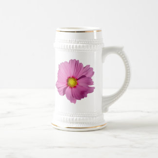 Pink Cosmos Beer Stein
