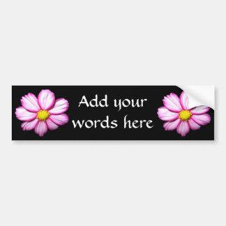 Pink Cosmos Flower Bumper Sticker