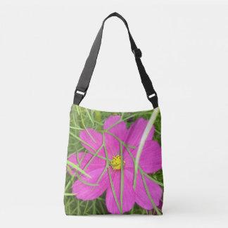 Pink Cosmos Flower Hiding Crossbody Bag