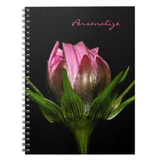 Pink Cosmos Flower With Name Notebook