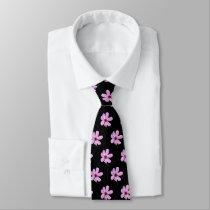 Pink Cosmos Neck Tie