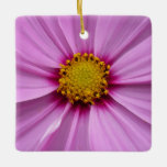 Pink Cosmos Pretty Wildflower Photography Ceramic Ornament