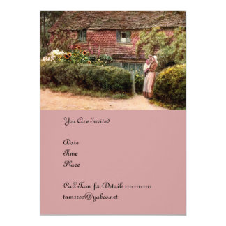 Pink Cottage at Buckingham c1900 Card