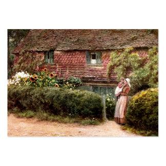 Pink Cottage at Buckingham c1900 Large Business Card