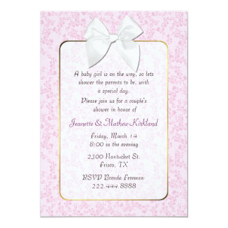 Pink Cottage Chic Couple's Baby Shower Invitation