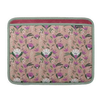 Pink Cottage Folk Floral MacBook Sleeve