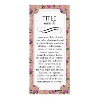 Pink Cottage Folk Floral Rack Cards