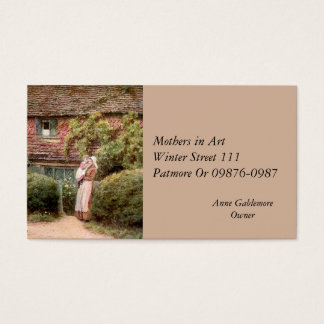 Pink Cottage Mother and Child Business Card