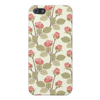 Pink Cottage Rosebuds iPhone SE/5/5s Case