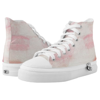 Pink Cotton Candy Dream Hi Top Printed Shoes