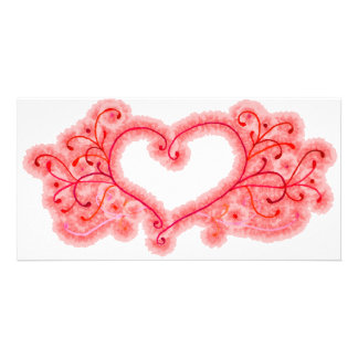 Pink Cotton Candy Heart Card