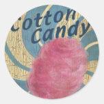 Pink Cotton Candy Round Sticker