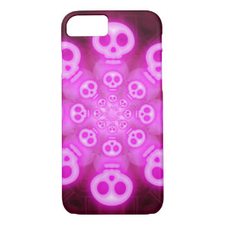 Pink Cotton Candy Skulls 3 iPhone 7 Case