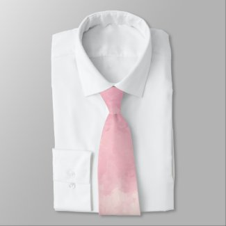 Pink Cotton Candy Watercolor Necktie