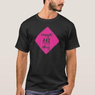 Pink Cougar Crossing 3 Ladies T-Shirt