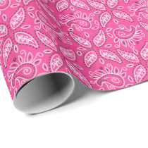 Pink Country Paisley pattern wrapping paper