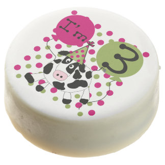 Pink Cow 3rd Birthday Dipped Oreos