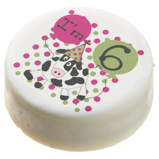 Pink Cow 6th Birthday Dipped Oreos