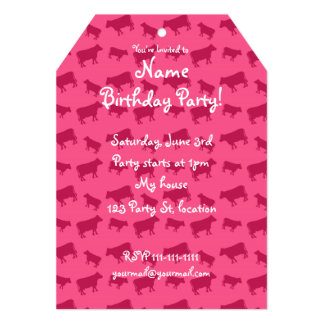Pink cow pattern 5x7 paper invitation card