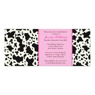 Pink Cow Print Bridal Shower Card
