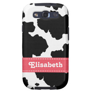Pink Cow Print Galaxy S3 Covers