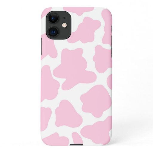 pink cow print phone case iPhone 11 case