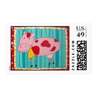 Pink Cow Stamp