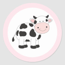 Pink Cow Stickers