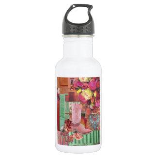 Pink Cowboy Boot Water Bottle