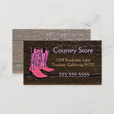 64d601bb731 barn wood cowboy boot white daisy florist business card | Zazzle.com