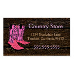 Pink Cowboy Boots-Western Theme Double-Sided Standard Business Cards (Pack Of 100)